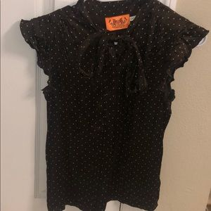 Juicy Couture Chocolate Ruffle Blouse